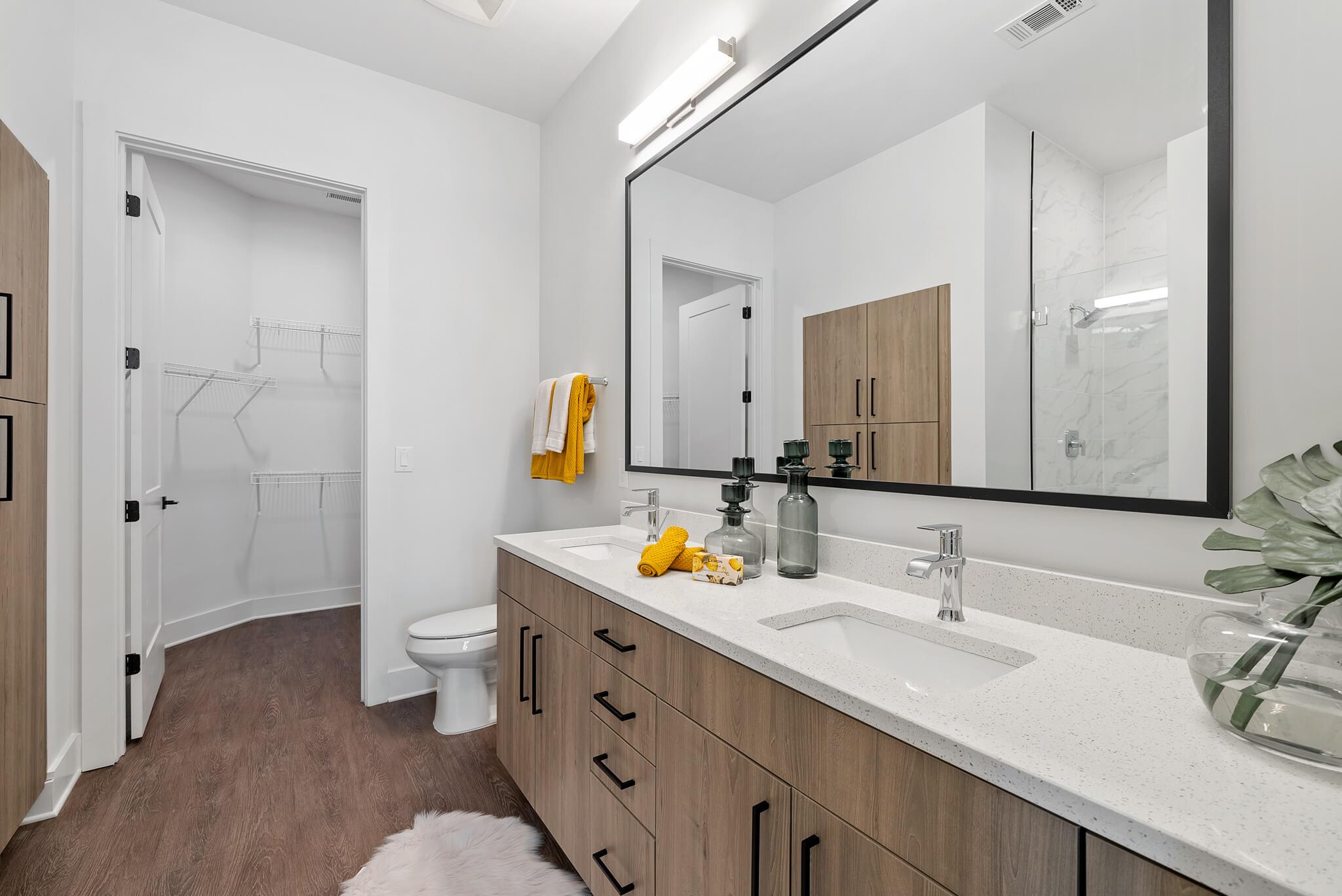 Large Bathroom with Dual Vanity