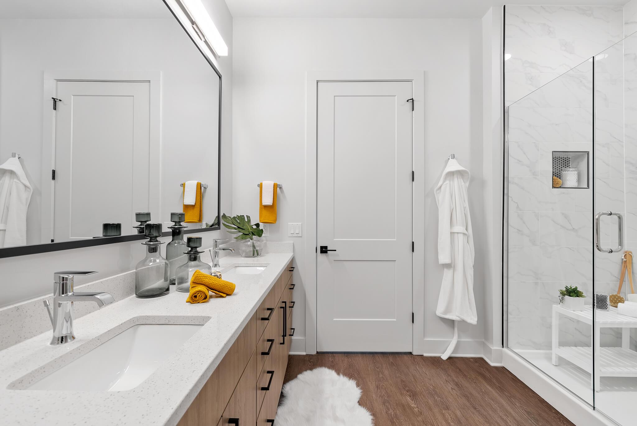 Bathroom with Glass-surround Shower