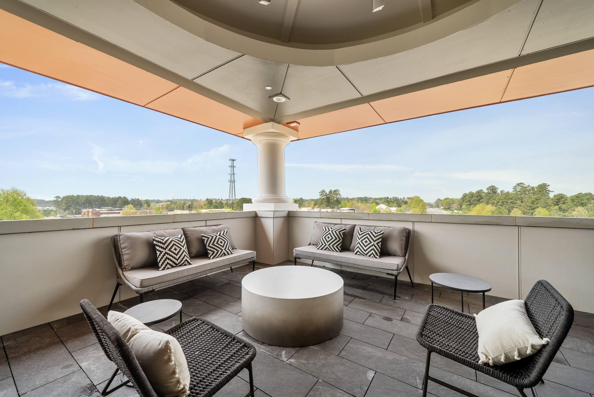 Outdoor Covered Patio with Seating