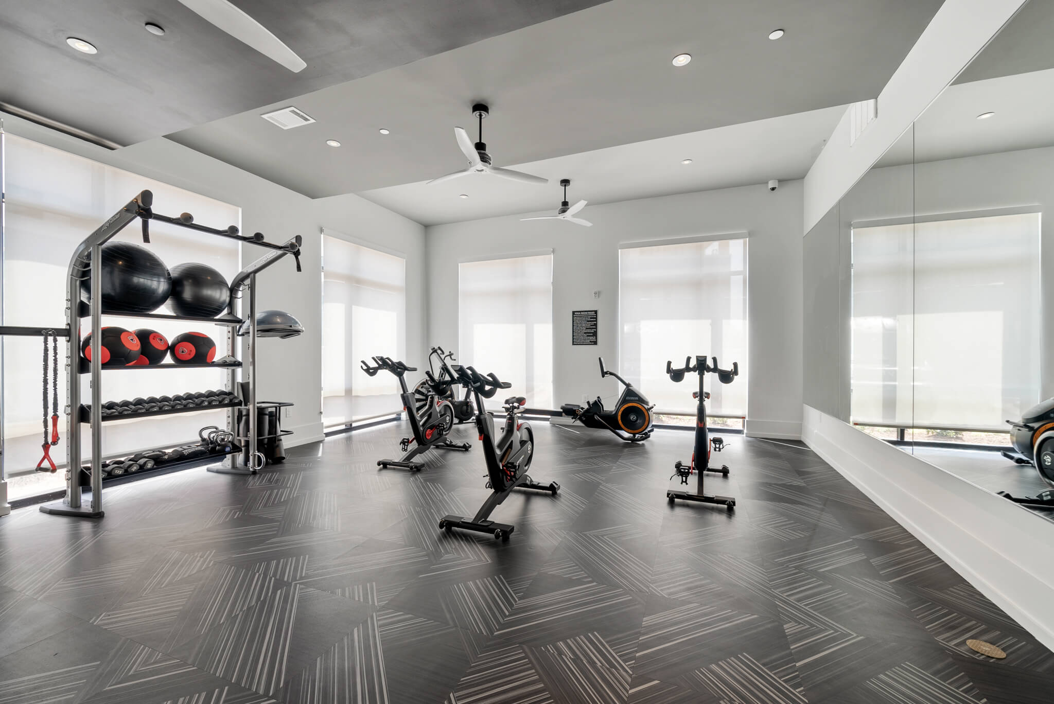 Fitness Center with 3 fitness bikes